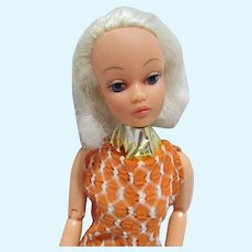 Vintage 1960's Jointed Fashion Doll Clone, Platinum Blond
