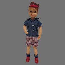 Vintage Mattel Todd Doll w/ Original Outfit, 1967