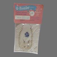 MOC Premier Doll Pearl Necklace & Earrings, 1950's