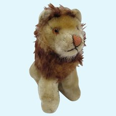 Vintage Small Steiff Sitting Lion, 1960's