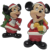 Pair of Vintage Disney Mickey Mouse/Santa Ceramic Figurines, Korea