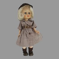 "Uneeda 8"" Janie Doll, Ginger Look-a-Like in Brownie Outfit, 1955"
