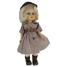 """Uneeda 8"""" Janie Doll, Ginger Look-a-Like in Brownie Outfit, 1955"""