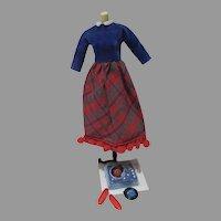 Vintage Mattel Skipper Outfit, Platter Party, 1965, Complete