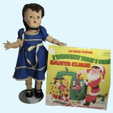 Vintage Lu Ann Simms HP Doll & Record, All Original, Horsman, 1953