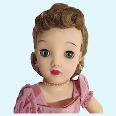 Vintage Ideal 18 Inch Miss Revlon Doll in Kissing Pink, 1950's