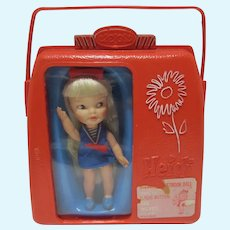 Remco Heidi PocketBook Doll w/Case, 1965-66