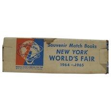 Souvenir Match Books, New York World's Fair 1964-65 Sealed in Orig. Mailer