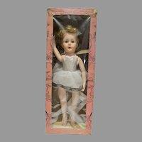 "MIB 18"" Ballerina Toe Dancing Doll, Valentine Dolls, 1950's"