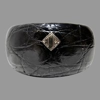 Ralph Lauren Crock Leather Wide Bangle Bracelet
