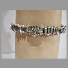 Elegant 1950's Trifari Rhinestone Bracelet