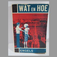 Vintage Dutch/English Dictionary Barbie & Ken Doll Cover, 1960's