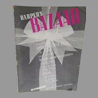 Vintage Haper's Bazaar Fashion Magazine, December 1935