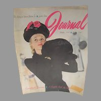 Vintage Ladies Home Journal, Oct. 1945, Fashion Hats, Suits, Great Ads!