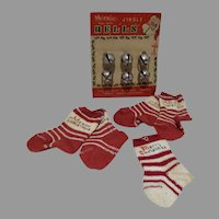 Vintage Christmas Stockings and Jingle Bells, Tree Decorations, 1950's