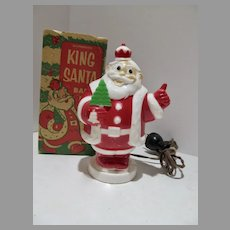 1950's King Santa Bank Light by Haret-Gilmare with Box