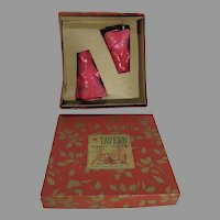 Vintage Tavern Novelty Candles, Pair of Christmas Trees with Original Box