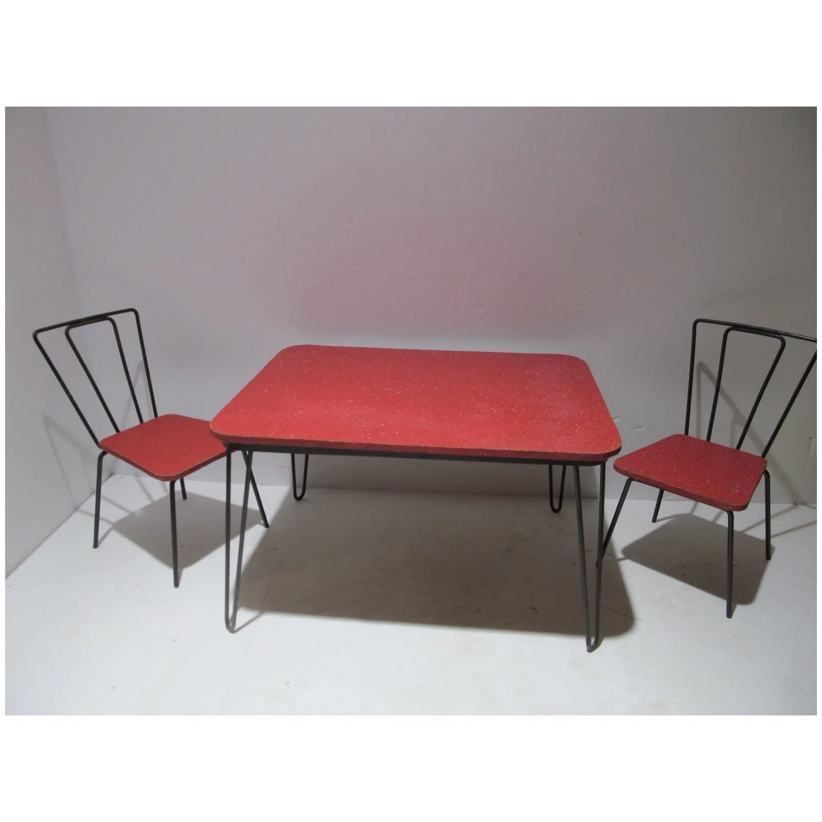 Vintage Mid Century Doll Dining Table Chairs 1950 S Fourty Fifty Sixty Ruby Lane