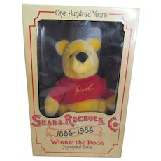 Vintage MIB Sears & Roebuck Winnie the Pooh Centennial Bear, 1986