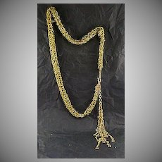 Fabulous, Fringed, Hand Crafted Belt/Necklace by Eugene of New York