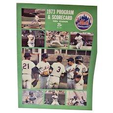 1973 Program and Scorecard, New York Mets, Sea Stadium, Mets VS. Cubs