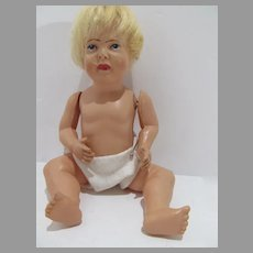 Vintage Celluloid Baby Doll, Eagle Markings, 1930's