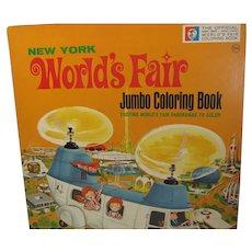Vintage 1964-65 New York World's Fair Jumbo Coloring Book, Mint