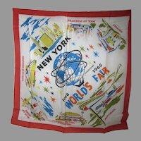 VIntage 1964-65 New York World's Fair Scarf