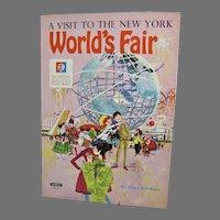 A Visit To The New York World's Fair Children's Book, 1964, Mary Pillsbury