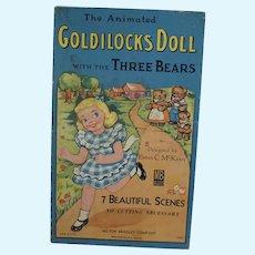 The Animated Goldilocks Paper Doll w/ 7 Scenes, Emma McKean, M. Bradley, 1957