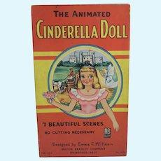 The Animated Cinderella Paper Doll w/7 Scenes, Emma McKean, M. Bradley, 1957