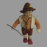 Vintage Cloth Mountain Climber Male Doll, 1940's