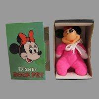 Rare Disney Minnie Mouse Book Pet, MIB