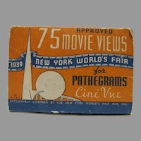 1939 NY World's Fair MIB Pathegrams Cine Vue Films