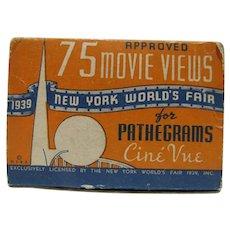 1939 NY World's Fair MIB Pathegrams Cine Vue Films