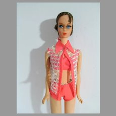 VIntage Brunette Talking Barbie, Mattel, 1970