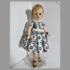 Vintage Ideal Little Miss Revlon in Rare Tagged Dress, 1950's