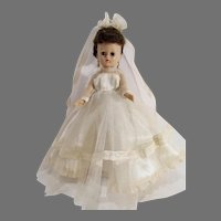 Vintage Vogue Jill Doll in Bridal Outfit, 1957