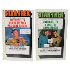 1977-78 Star Trek Fotonovel #2 and #4, Gene Roddenberry Paperback Bks.