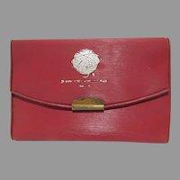 1964-65 New York World's Fair Red Vinyl Key Case