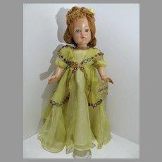 "Effanbee Compo 18"" Little Lady Doll, All Original w/Tag, 1945"