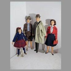 VIntage 1960's Remco Littlechap Family w/Poodle