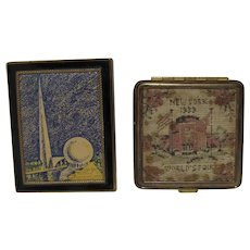 Two Vintage Ladies Compacts from 1939 NY World's Fair