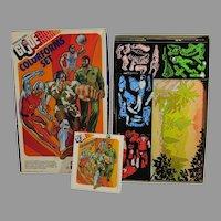 GI Joe Adventure Team, 1976 Colorforms Set, near Complete