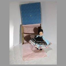 MIB Madame Alexander-kin Romania Doll #586, 1968