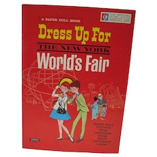 Un-Cut Official New York 1964 World's Fair Dress Up For Paper Doll Book