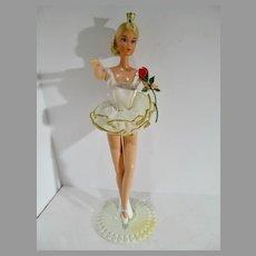 Vintage Mattel 1976 Ballerina Barbie w/Stand& Instruction Booklet