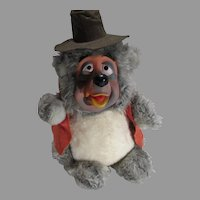 Vintage Disneyland Big Al Bear Country Jamboree, Rubber Face, Plush Figure