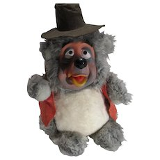 Vintage Disneyland Big Al Bear Country Jamboree, Rubber Face, Plush Figure