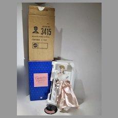 B Mattel Porcelain Enchanted Evening Barbie Doll, 1986